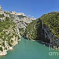Gorges Du Verdon River From Sainte-croix Lake by Sami Sarkis