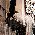 Gothic Surreal Grim Reaper With Large Eagle by Kathy Fornal