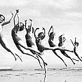 Graceful Line Of Beach Dancers by Underwood Archives