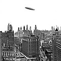 Graf Zeppelin Over Chicago by Underwood Archives