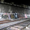 Graffiti - Under Over Railyard by Kathleen Grace
