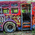 Graffiti Bus by Dave Mills