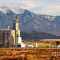 Grain Silo Below Wasatch Range - Utah by Gary Whitton