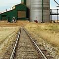 Grain Silos And Railway Track by Tony Craddock