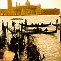 Grand Canal At Sunset - Venice by Luciano Mortula