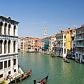 Grand Canal With Gondola  Venice by Assawin Chomjit