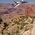 Grand Canyon Fly By-1 by Larry Mulvehill