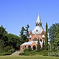 Grand Chapel In Central Cemetery Szczecin Poland by Teresa Zieba