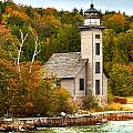 Grand Island Lighthouse No.1442 by Randall Nyhof