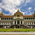 Grand Palace Chakri Mahaprasad Hall Front View Bangkok by Charuhas Images