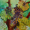 Grapes And Leaves V by Karen Fleschler