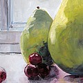 Grapes And Pears by Saundra Lane Galloway