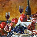 Grapes And Pomgranates by Ylli Haruni