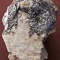 Graphite On Calcite Crystals by Dirk Wiersma