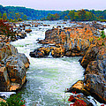 Great Falls On The Potomac River In Virginia by Eva Kaufman