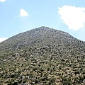 Great Mountain Bush View From The Ancient Hilltop In Mycenae Greece by John Shiron