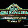 Great Movie Ride Neon Sign Hollywood Studios Walt Disney World Prints Glowing Edges by Shawn O'Brien