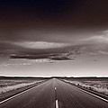 Great Plains Road Trip Bw by Steve Gadomski