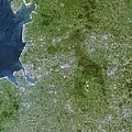 Greater Manchester, Satellite Image by Planetobserver