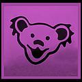 Greatful Dead Dancing Bear In Pink by Rob Hans