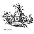 Greedy Frog, Conceptual Artwork by Bill Sanderson