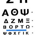 Greek Eye Chart by Larry Mulvehill