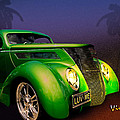 Green 37 Ford Hot Rod Decked Out For A Tropical Saint Patrick Day In South Texas by Chas Sinklier