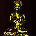 Green And Gold Buddha by Diana Haronis