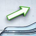 Green Arrow And Escalator by Jorg Greuel