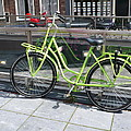 Green Bike Haarlem Holland by Gregory Smith