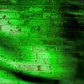 Green Brick Wall by Susan Leggett