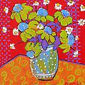 Green Daisy Bouquet by Blenda Studio