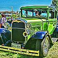 Green Ford Street Rod Hdr by Randy Harris