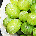 Green Grapes On A Plate by Andee Design