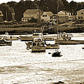 Green Harbor At Low Tide by Christine Stonebridge