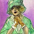Green Hat by Mel Thompson