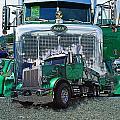 Green Peterbilt Dbl. Exposure by Randy Harris