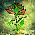 Green Rose by Leslie Revels