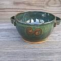 Green Soup Bowl by Monika Hood