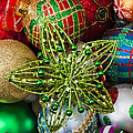 Green Star Christmas Ornament by Garry Gay