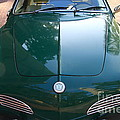 Green Volkswagon Karmann Ghia . 7d10088 by Wingsdomain Art and Photography