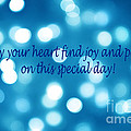 Greeting Card Blue With White Lights by Christopher Shellhammer