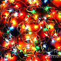 Greeting Card Christmas Color Lights by Christopher Shellhammer