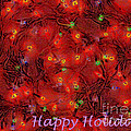 Greeting Card Colorful Blubs Happy Holidays by Christopher Shellhammer