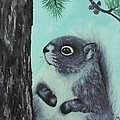 Grey Squirrel by Peggy Miller