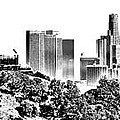 Griffith And Los Angeles Etched by Ricky Barnard