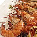 Grilled Prawns by Charuhas Images