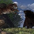 Grizzly Vs. Saber-tooth by Daniel Eskridge