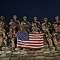 Group Photo Of U.s. Marines by Terry Moore