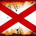 Grunge Style Alabama Flag by David G Paul